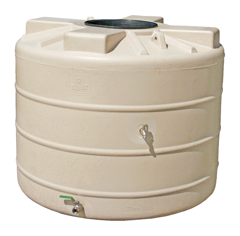 1500L Round poly water tank